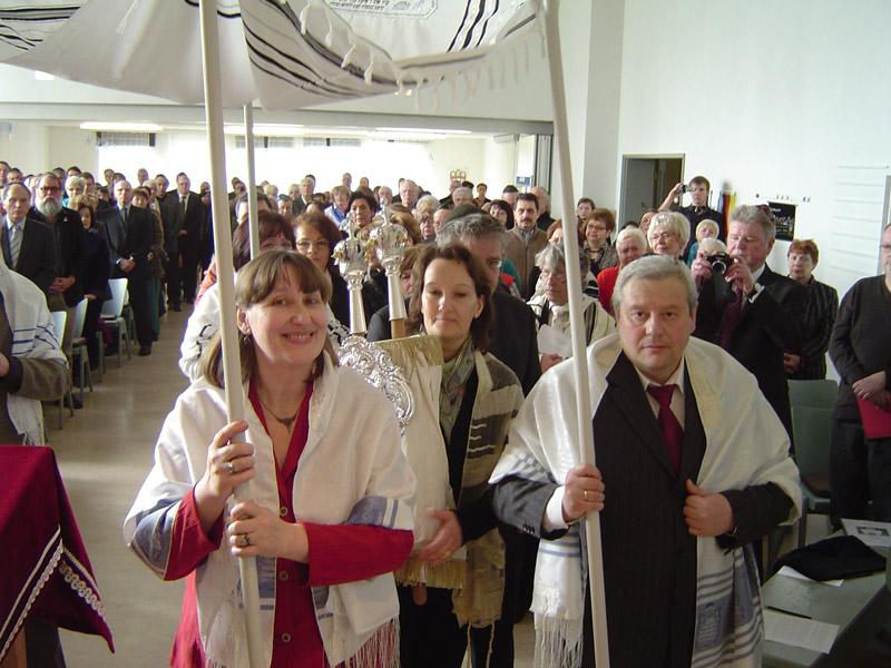 Synagoge-Thoraeinbringung